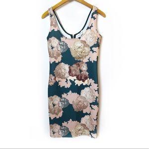 Macys | BarIII floral body con mini dress Sz S